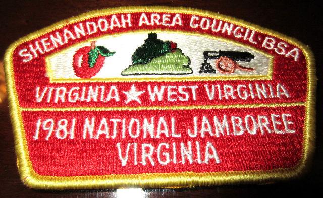 Bsa Boy Scout Uniform Pocket Flap Patch 1981 National Jamboree Virginia