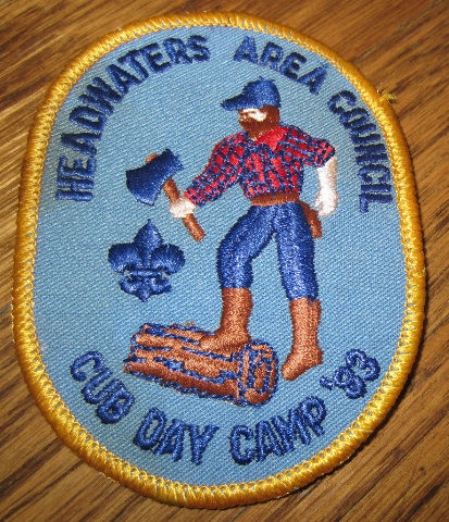 Boy Scout Vintage Patch Headwaters Cub Day Camp 1983