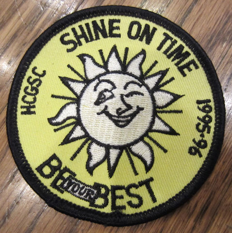 Girl Scouts Vintage Uniform Patch Shine On Time Be Your Best 1995-6 Sunshine
