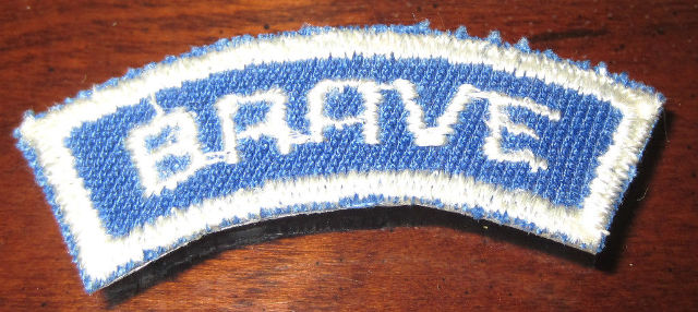 Bsa Boy Scout Uniform Patch Brave Blue And White Segment Bar