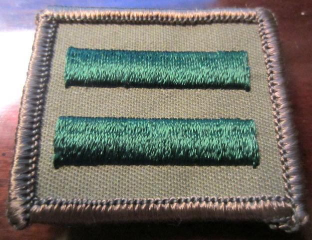Bsa Boy Scout Uniform Pocket Flap Patch Patrol Leader Khaki Green 2 Two Bar