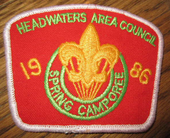 Boy Scout Patch Headwater Spring Camporee 1986 Vintage