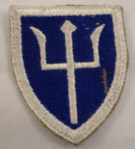 Vintage Military Uniform Patch 97Th Infantry Division Trident #Mtwh