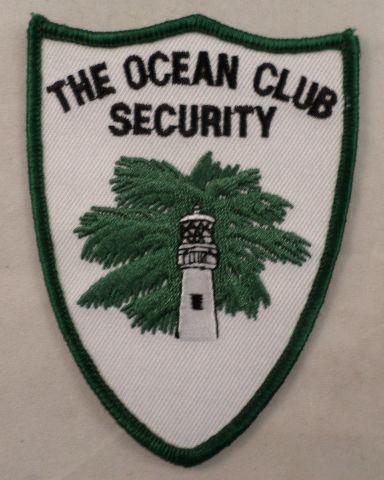 The Ocean Club Security Uniform Patch #Mtgr