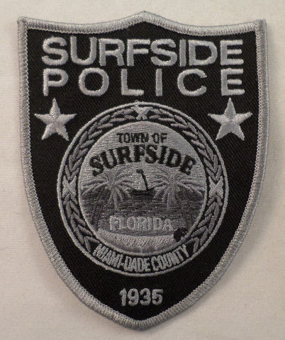 Town Of Surfside Police Florida Miami Dade County Uniform Patch #Mtgy