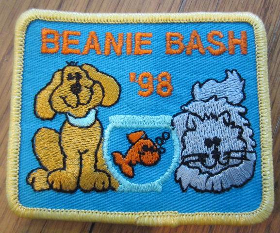 Girl Scout Gs Vintage Uniform Patch Beanie Bash 1998 Dog And Cat Fish Bowl