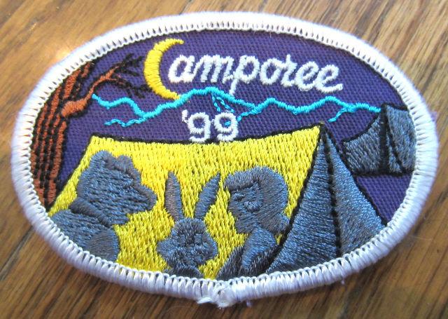 Girl Scout Gs Vintage Uniform Patch Camporee 1999 Camping Tent