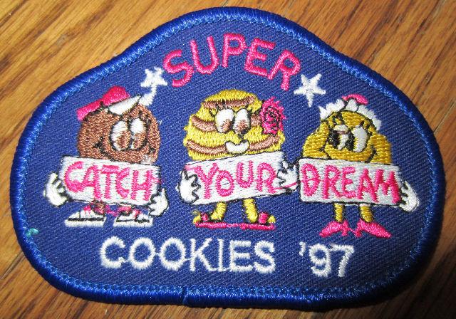 Girl Scout Gs Vintage Uniform Patch  Super Cookies 1997 Catch Your Dreams
