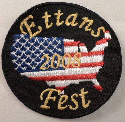 Ettans 2008 Fest United States Flag Design Uniform Patch #Mtbk
