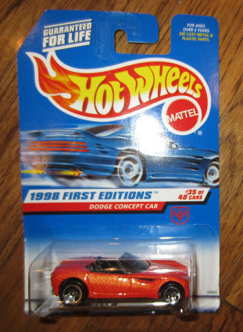 Hot Wheels 1998 First Editions Dodge Concept Car #35/40 #672 Moc Mip New