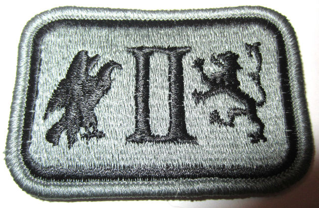 Wwii Us Army 2Nd Corps Patch General Patton 2Nd Corp Lion & Eagle Patch