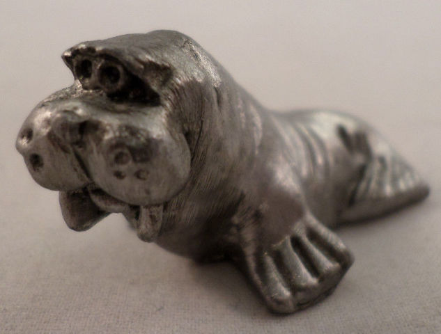 Pewter Collectible Figurine Animal Walrus Ocean Marine Life