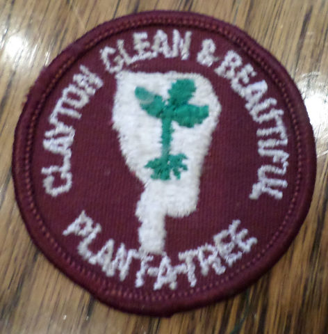 Girl Scouts Gs Vintage Uniform Patch Clayton Clean And Beautiful Plant-A-Tree