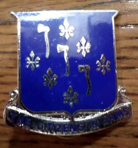 Us Military Hat Lapel Pin 333 Regiment The Citizens In Arms