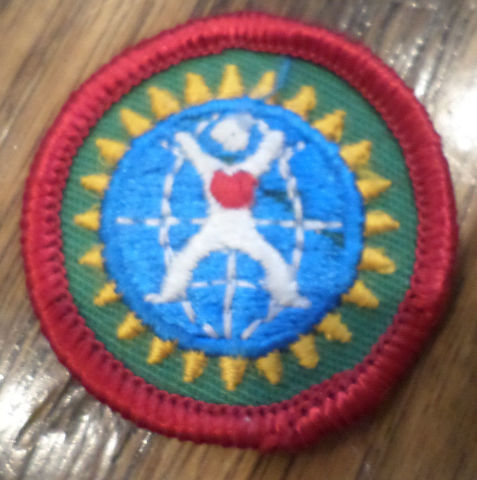 Jr. Girl Scout Green Junior Merit Badge Uniform Dabbler