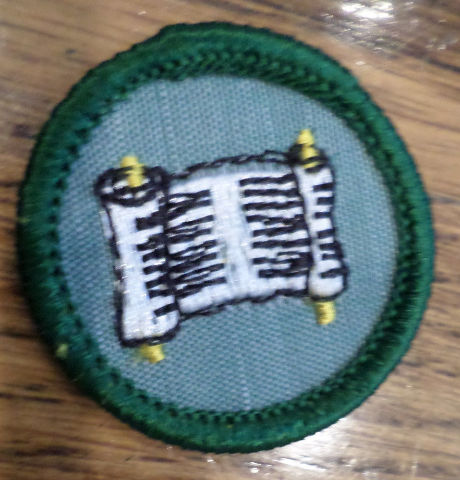 Jr. Girl Scout Green Junior Merit Badge Writer
