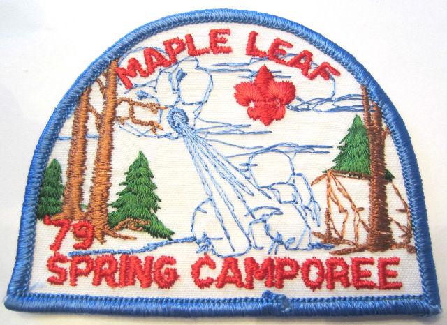 Vintage Uniform Patch Boy Scout Maple Leaf Spring Camporee 1979 Mr. Frost