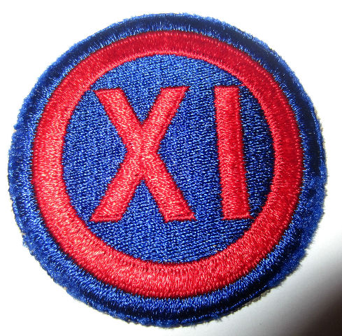 Rare Us Army Dress Colored 9Th Corps Xi Corps Command Military Patch