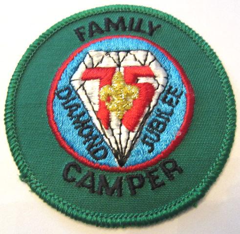 Family Camper Diamond Jubilee 75 Years Boy Scout Uniform Patch