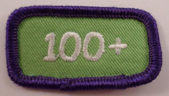 Girl Scout Gs Vintage Uniform Patch 100+ Cookie Sales Purple Green Bar #Gspp