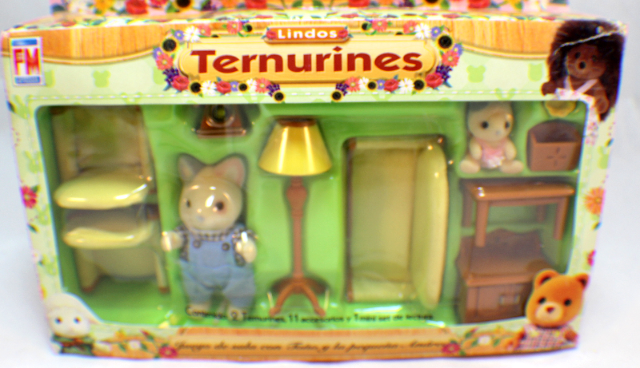 Sylvanian Families Kittens Cat Ternurines Living Room Set Rare Mexican  Packaging Part 90