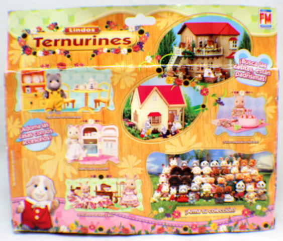 Sylvanian Families Kittens Cat Ternurines Living Room Set Rare Mexican  Packaging