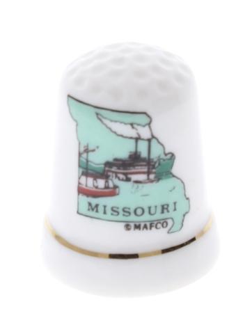 Missouri State Themed Thimble Steamboat Image