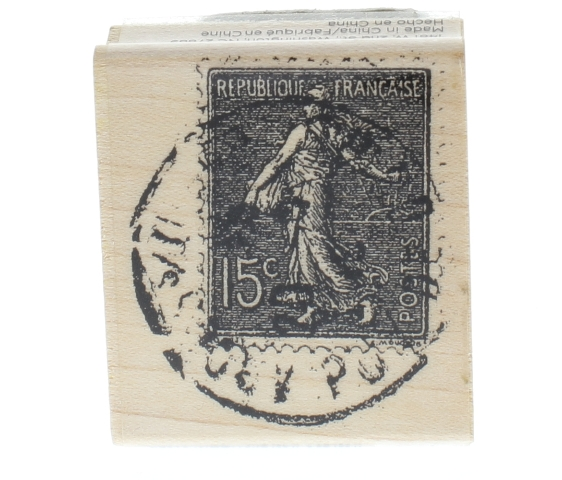 Hampton Art 15 cent French Post Mark Postal Stamp Wooden ...