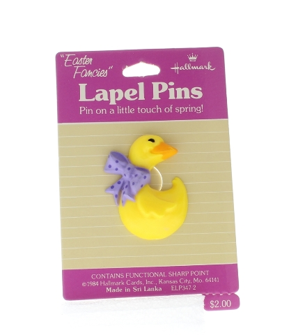 Hallmark Easter Hat Lapel Pin Easter Duck with Purple Bow