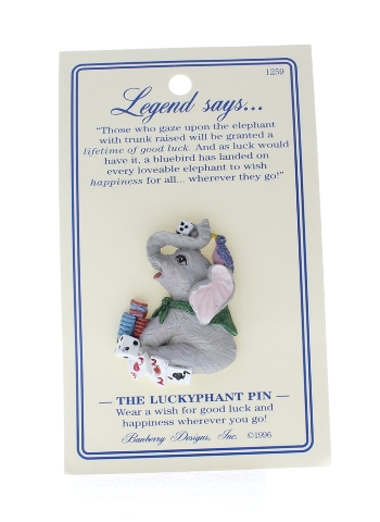 The Lucky Elephant Hat Lapel Pin Banberry Designs