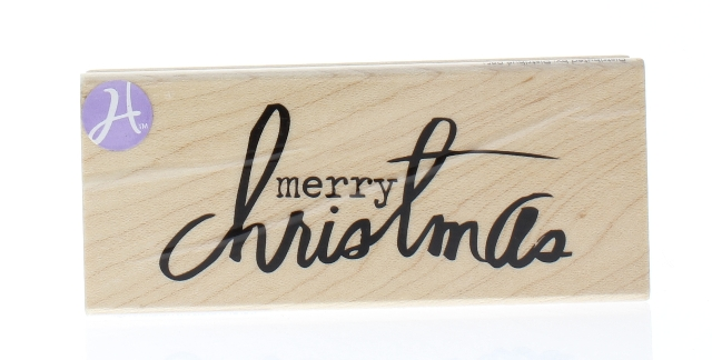 Merry Christmas Writing.Details About Hampton Art Merry Christmas Writing Words Wooden Rubber Stamp