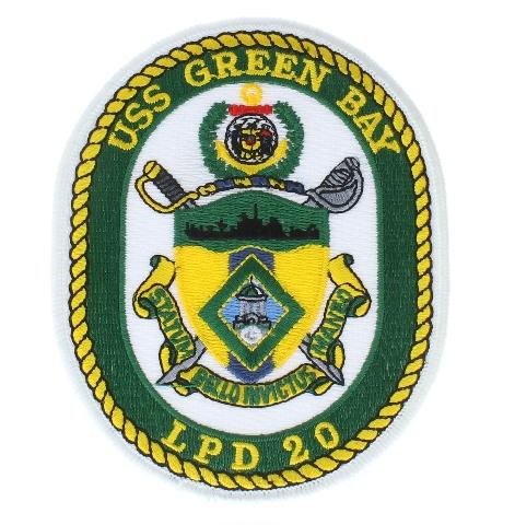 United States Navy USS GreenBay LPD 20 Uniform Patch