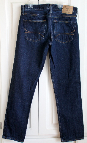 Mens Teens Hollister Sz 31 x 32 Authentic Jeans Dark Wash Denim EUC