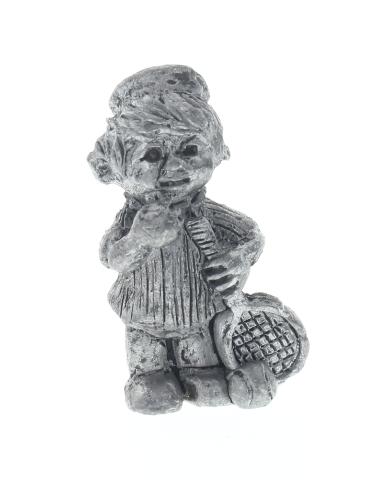 Finest Pewter Figurine Little Boy or girl Tennis Player