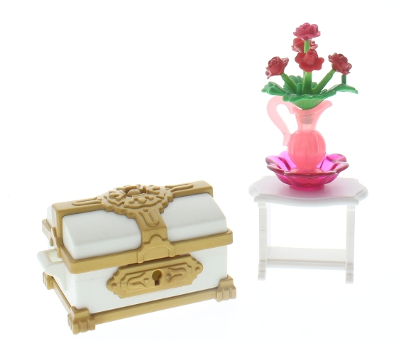 Playmobil Victorian Treasure Chest Flowers Table Bowl Doll Set