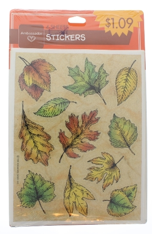 Ambassador Vintage Sticker Pack Fall and Autumn Leaves Oak Pine