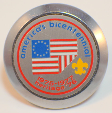 American's Bicentennial Boy Scouts Bsa Bolo Scarf Holder Heritage 1976