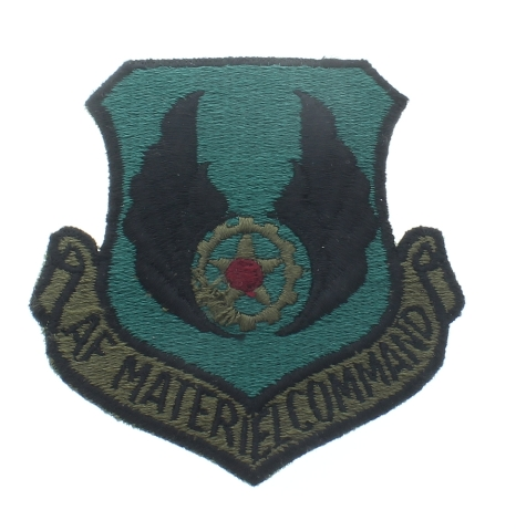 Air Materiel Command Subdued Shield Style Uniform Patch - United States Air Force  USAF