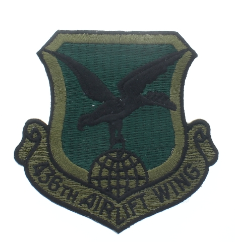 436th Airlift Wing Subdued Style Uniform Patch - United States Air Force  USAF