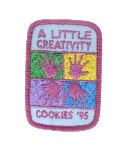 Girl Scout Gs Vintage Uniform Patch Cookies 95 A  Little Creativity