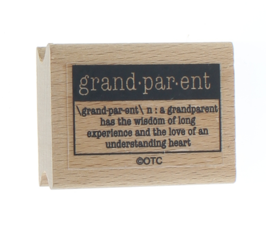 Grandparent Dictionary Definition Wooden Rubber Stamp