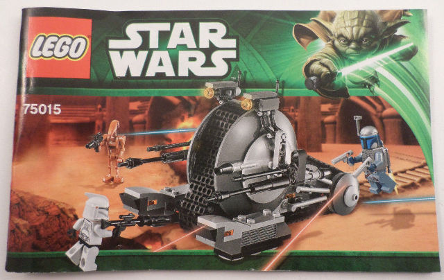 star wars lego instruction manual booklet only 75015 ebay rh ebay com lego star wars death star instruction manual lego star wars 7964 republic frigate instruction manual