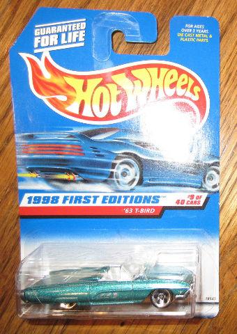 Hot Wheels 1998 First Editions 9/40 '63 1963 T-Bird