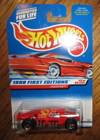 Hot Wheels 1998 First Editions #12/40 Lakester Red