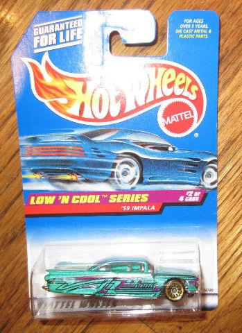 """Hotwheels 1998 Low'N Cool Series """"'59 Impala"""" New Moc"""