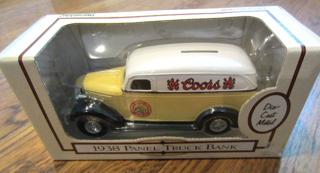 Ertl Die-Cast Metal Bank 1938 Panel Truck 1/25Th Scale Nos Coors 1995 F141