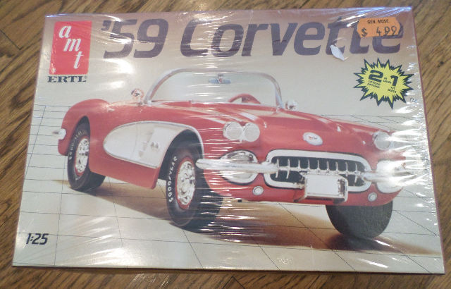 Htf Amt 1959 Corvette- #6588-Usa 1990 - Fs ## Model Car Sealed In Plastic Box