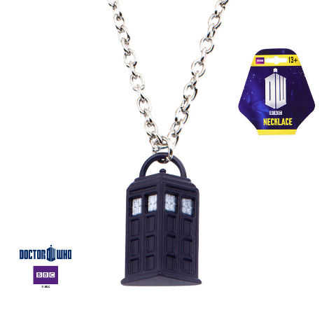 Tardis Pendant Phone Booth Pendant Dr Who Bbc Logo Necklace