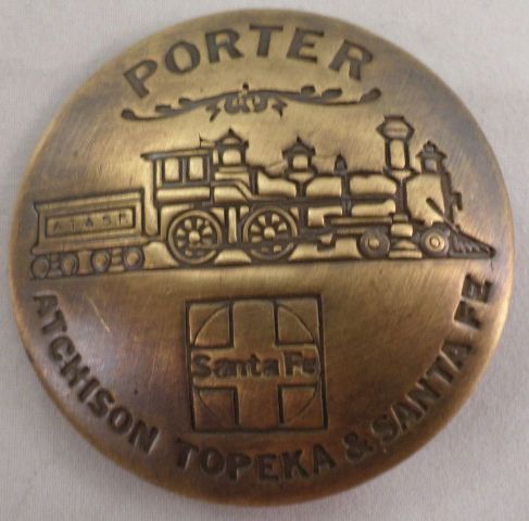 Porter Atchison Topeka And Santa Fe Train Old Western Inspired Replica Pin Back
