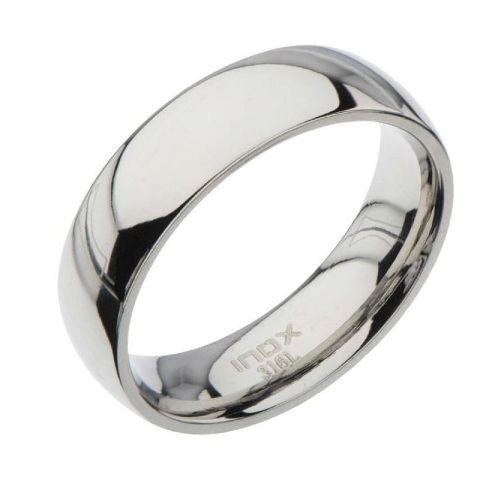 Inox Mens Stainless Steel High Polished Finish Classic  Wedding Band Ring Size 9